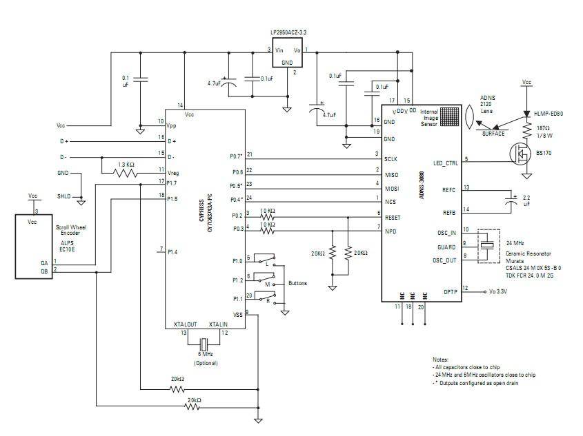 led呼吸灯原理图; 打造自己的专属鼠标——鼠标diy